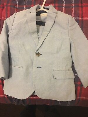 H&M Boys 3 Piece Suit 3-4y