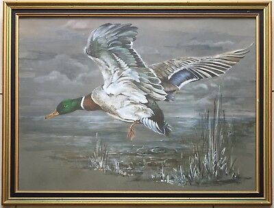 Peg Campbell~original painting~Flying~1978