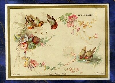grand chromo au Bon Marché bm137 Chardonnerets Goldfinch Bird De Longpres Pacon