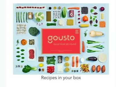 Amazing Gousto cook boxes - 50% off your first 2 boxes code - see description