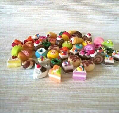 50 Mixed Bakery Bread Clay D.I.Y Dollhouse Miniatures Food Groceries Room Decor