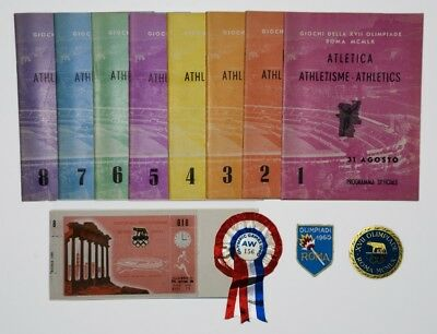 1960 Rome Olympic Games Athletic Programmes