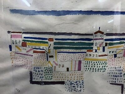 """Serigrafia Paul Klee 1927 """"Seaside town in the south of France"""""""