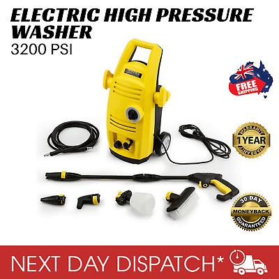 New Jet-USA Electric High Pressure Cleaner Washer Gurney Water Pump Hose 3200PSI