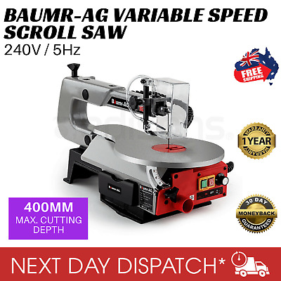 New BAUMR-AG Variable Speed Scroll Saw Fret Woodwork Blades Adjustable Table