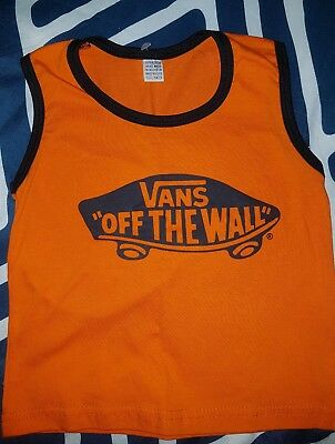 ** VANS OFF THE WALL baby tank top - Size 0 #SundayMarket **