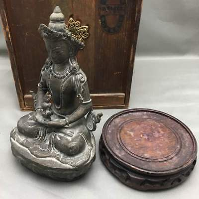Buddha statue 16C Old Chinese Fine-grained Copper Used Tibetan Buddhism