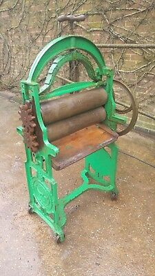 Vintage cast iron, arch topped washing mangle