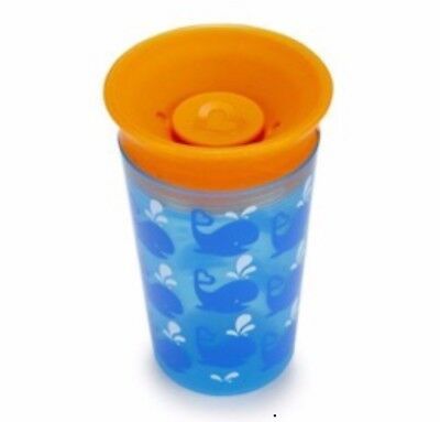 Munchkin Miracle 360 Degrees Deco Sippy Cup, 9 oz/266 ml, Blue Whale