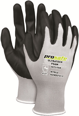2 pairs of Prosafe ULTRATECH BREATHABLE NITRILE FOAM GLOVES Grey S,M,L,XL Or 2XL