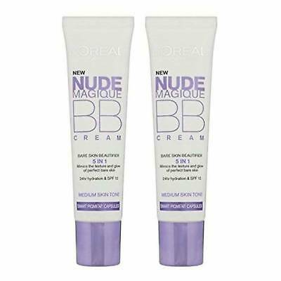 2 x NUEVO L'oreal Nude Magique BB Cream 5 in 1 (medium color) UN OPORTUNIDAD !