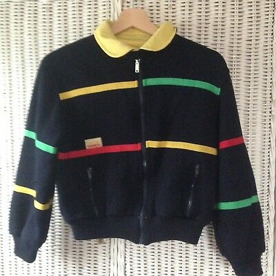 Vintage Boys Multicolor Reversible Jacket Size 6-7 Year  by Track
