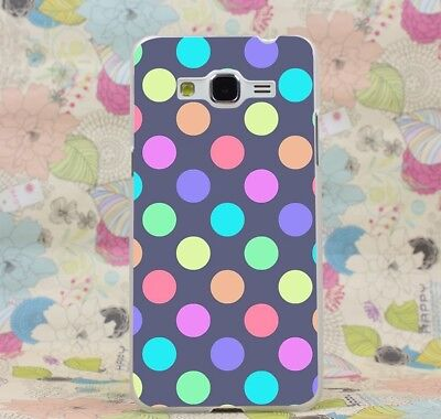 Case Cover For Samsung A7 J7 Note 5 Grand 2 Prime Polka Dots Colorful Big Size