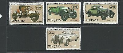 Venda 1986 Vintage Cars Set of 4 As Issued Complete MUH/MNH
