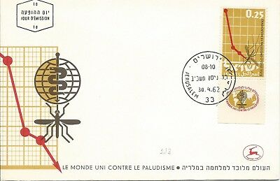 1962 FDC Malaria Eradication FDI 30 April 1962