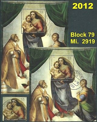 LOT No.1 - BRD Bund 2012 Block79 + Einzelmarke Mi.2919 Post-/Tagesstempel LUXUS!