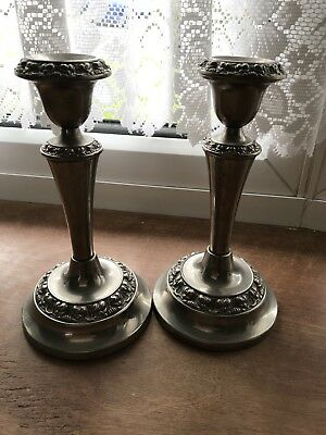 2 Silver Plated Candlesticks