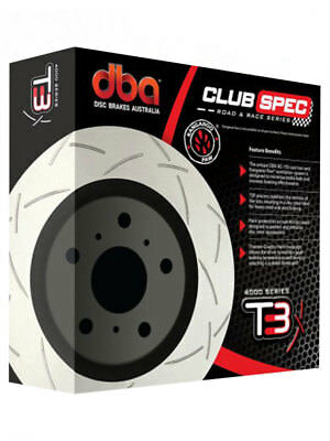 1 x DBA T3 Slotted Rotor FOR HOLDEN COMMODORE VF (DBA42605S)