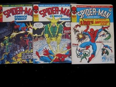 Marvel  Spider-Man Uk Comics  100-101-102