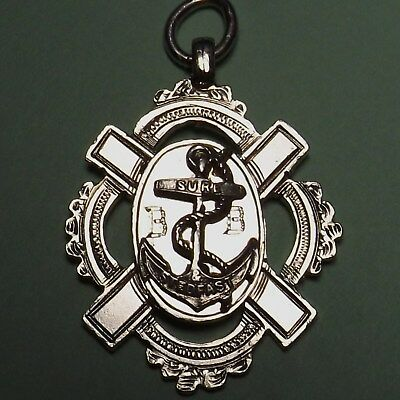 Antique Edwardian Scottish Hallmark Cast Solid Silver  Navel Anchor Watch Fob