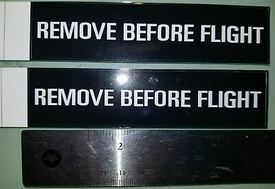 3 pcs Remove Before Flight decals stickers aviation jet fighter Boeing, airplane