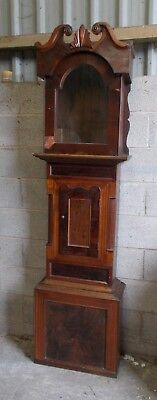 Antique GRANDFATHER CLOCK Case ONLY For RESTORATION Wooden OAK Mahogany