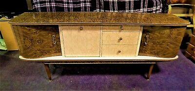 RARE GENUINE VINTAGE 1960's SIDEBOARD COFFEE MARBLE EFFECT EXCELLENT CONDITION