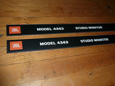 Pair JBL 4343 Front panel ( grill ) Labels