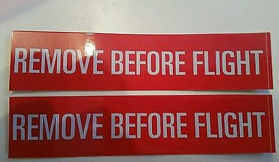 Remove Before Flight decal stickers pilot jet fighter Boeing planes aviation