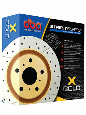 2 x DBA X-Gold Cross-Drilled Slotted Rotor FOR LEXUS RX MCU3_ (DBA2703X)