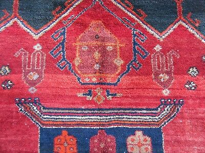 Antique Country House North West Persian Kurdish Large Rug Carpet 100 Years Old