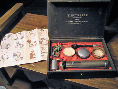 1920's Stimulator Electraply Laboratories Electric Massage Therapy QUACK Device