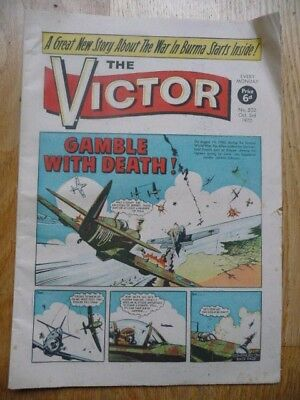 Vintage The Victor Comic No.502 Oct 3rd, 1970 Gamble With Death! - Part Cut Out