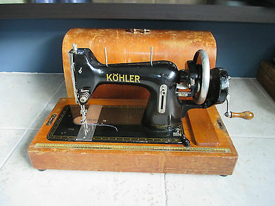 Beautiful 1940's Hand Crank Kohler Köhler Sewing Machine Plain Design