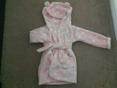 Girls Dressing Gown 9-12 Months