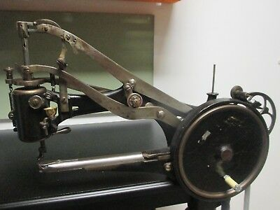 1878 Bradbury cylinder arm industrial sewing machine with electric motor