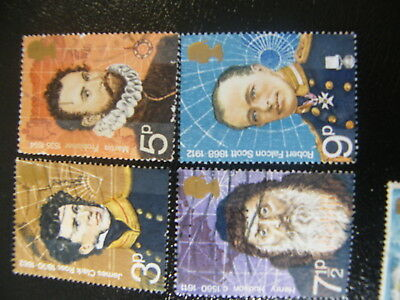 1972 - British Polar Explorers - used set