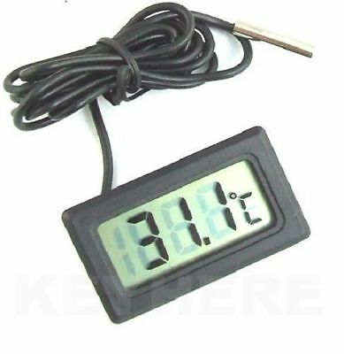 New Black Aquarium Temperature Gauge Lcd Digital Thermometer For Fish Tank Water