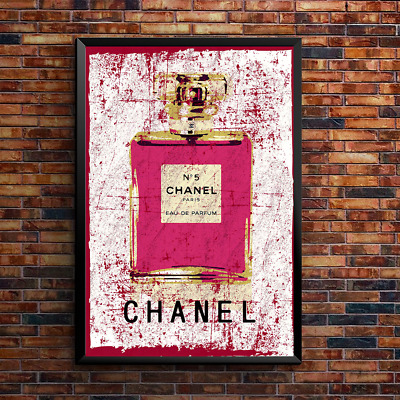 Poster Print Art Perfume Bottle Fashion Paris Decor Girly Home WallArt A4 1001