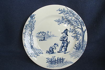 """assiette """"GARDE CHAMPETRE/ CLAIREFONTAINE /plate"""