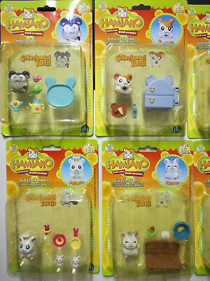 Lotto 4 HAMTARO Blister nuovi! Ballabio, Ghiotto ed accessori! Rare Playset NEW!