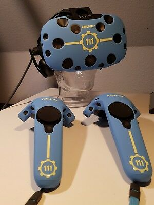 HTC Vive VR Headset + Vive Deluxe Audio Strap + Fallout 4 Cover