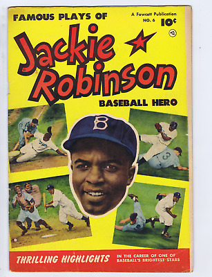Jackie Robinson Baseball Hero #6 Fawcett 1952 Jackie Robinson (photo cover)
