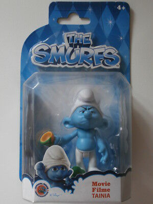 PUFFO BRONTOLONE snodabile Blister SMURF Rare Playset THE SMURFS MOVIE FILM NEW!