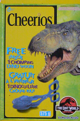 1997 Jurassic Park - The Lost World Cheerios Canadian cereal box