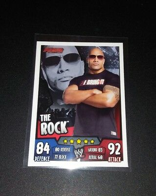 The Rock 2011 Topps Slam Attax Wrestling Trading Card WWF WWE