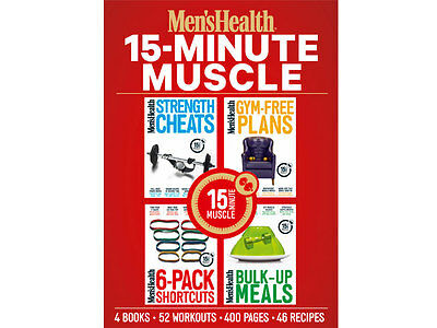 Men's Health; 15-Minute Muscle # 4 BOOKS / 52 WORKOUTS / 46 RECIPES / NEW/SEALED