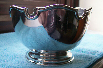 1905, Antique Solid Irish Silver Pedestal bowl by West & Son,Sugar,Jam or Nuts.