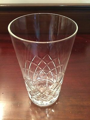 Single Cut Glass Crystal Whiskey Tumbler Unmarked