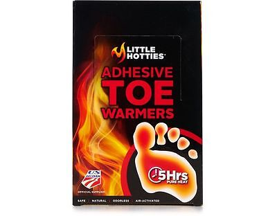 [60 PAIRS] Little Hotties Adhesive Toe Warmers | Feet, Foot, Sole, Ski, Snow